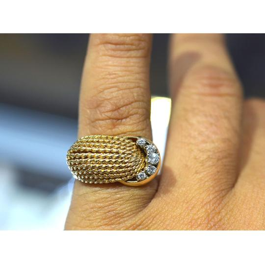 Other 14K Yellow Gold Diamond Rope Style Ring Image 4