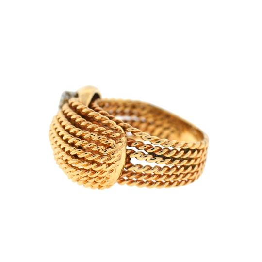 Other 14K Yellow Gold Diamond Rope Style Ring Image 5