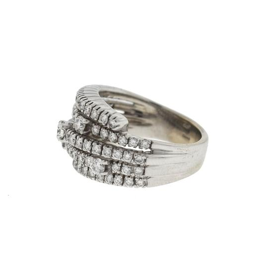 DAMIANI Damiani 18k White Gold 5 Row Diamond San Lorenz Ring Image 2