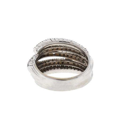 DAMIANI Damiani 18k White Gold 5 Row Diamond San Lorenz Ring Image 4