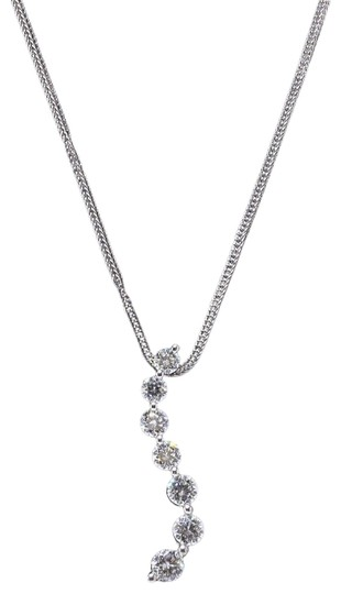Preload https://img-static.tradesy.com/item/23998097/f-g-journey-pendant-061-tcw-set-in-14k-white-gold-necklace-0-1-540-540.jpg