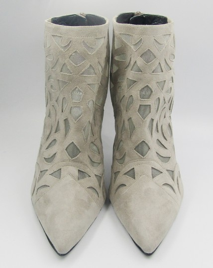Stuart Weitzman New Stiletto Pointed Toe Mesh gray Boots Image 3