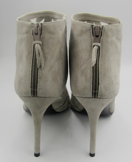 Stuart Weitzman New Stiletto Pointed Toe Mesh gray Boots Image 4