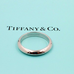 Tiffany & Co. Platinum Ring 4mm Wide Men's Wedding Band