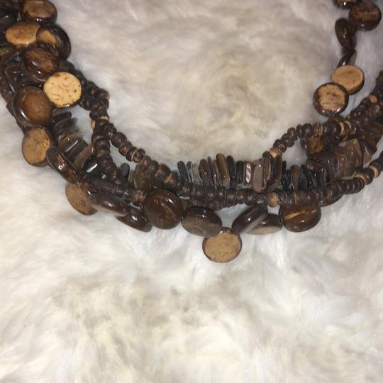 Wooden Bead Necklace Image 1