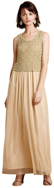 Preload https://img-static.tradesy.com/item/23998245/anthropologie-nude-beaded-arabella-long-formal-dress-size-8-m-0-1-650-650.jpg
