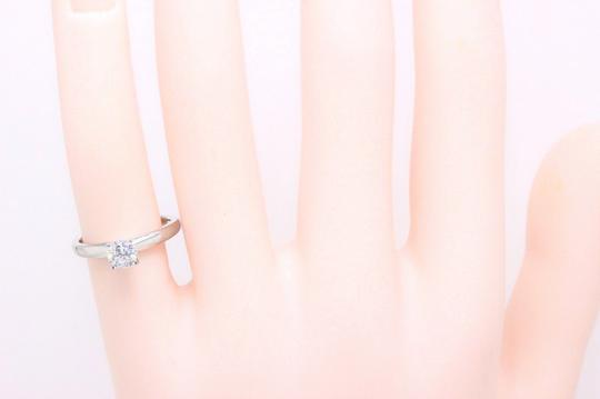 E I1 Round Solitaire 0.45 Cts 14k White Gold Engagement Ring Image 1