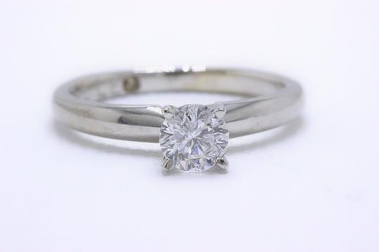 E I1 Round Solitaire 0.45 Cts 14k White Gold Engagement Ring Image 2