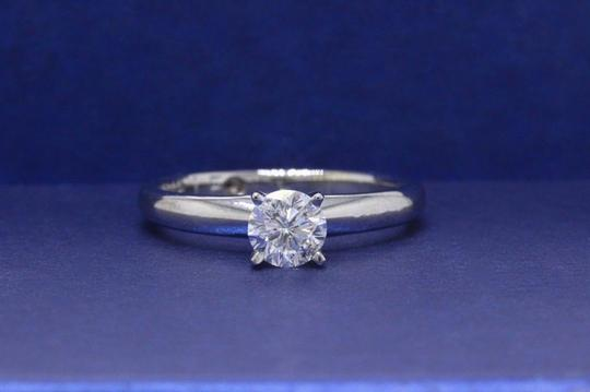 E I1 Round Solitaire 0.45 Cts 14k White Gold Engagement Ring Image 3