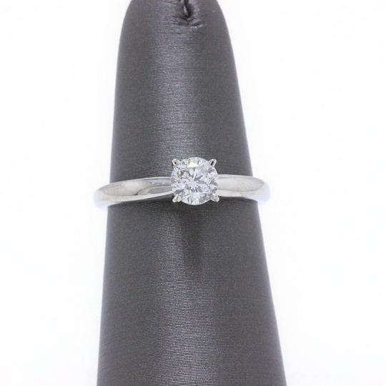 E I1 Round Solitaire 0.45 Cts 14k White Gold Engagement Ring Image 4