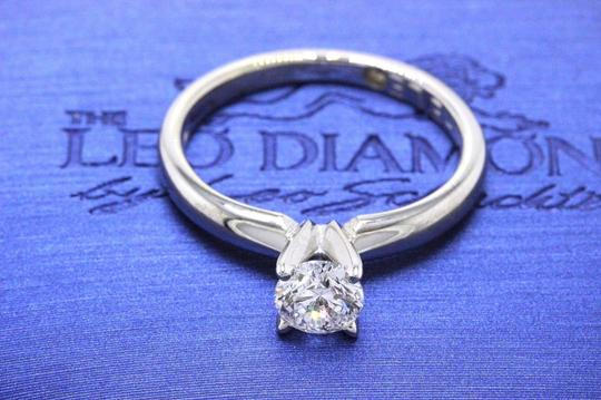 E I1 Round Solitaire 0.45 Cts 14k White Gold Engagement Ring Image 7
