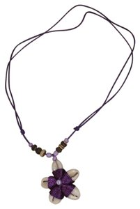 Shell and Bead Flower Necklace adjustable