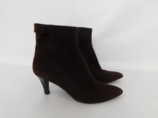 Salvatore Ferragamo Suede Ankle Pointed Toe Leather Brown Boots Image 4