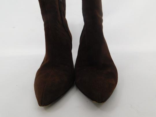 Salvatore Ferragamo Suede Ankle Pointed Toe Leather Brown Boots Image 6