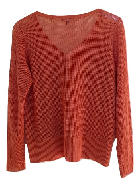 Eileen Fisher Fall Open Weave V-neck Spring Sweater Image 1