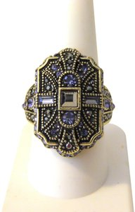 "Heidi Daus Heidi Daus ""The Deco Trilogy"" Crystal Shield Ring 9"