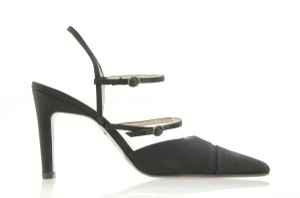 Chanel Slingbacks Strappy Pointed Toe Black Pumps