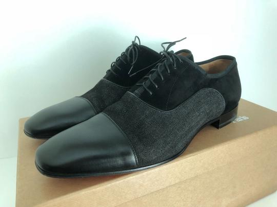 Christian Louboutin Black Mens Platers Flat Calf Leather Dress Lace Up Shoes