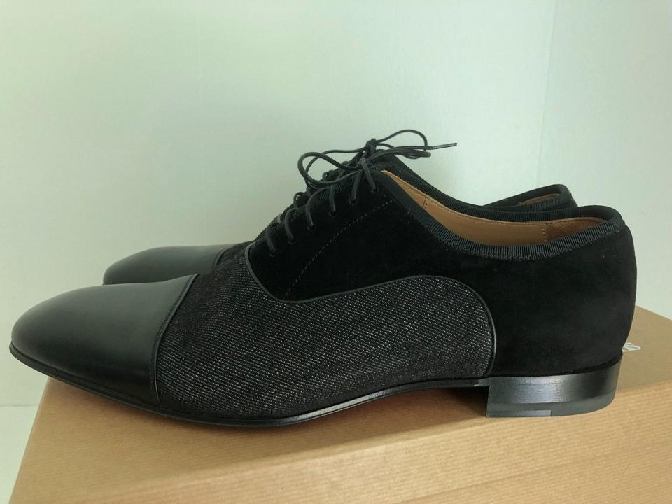 1311c73c0b38 Christian Louboutin Black Mens Platers Flat Calf Leather Dress Lace Up Shoes  Image 9. 12345678910