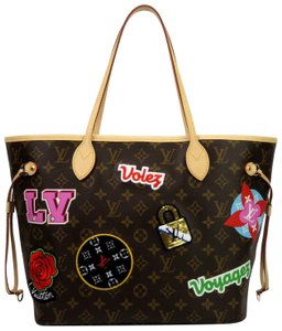 Louis Vuitton Neverfull Mm Monogram Leather Tote in Brown
