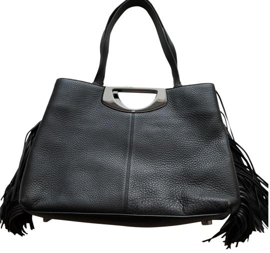 Christian Louboutin Tassle Vintage Tote in Black Leather, Red Interior Image 1