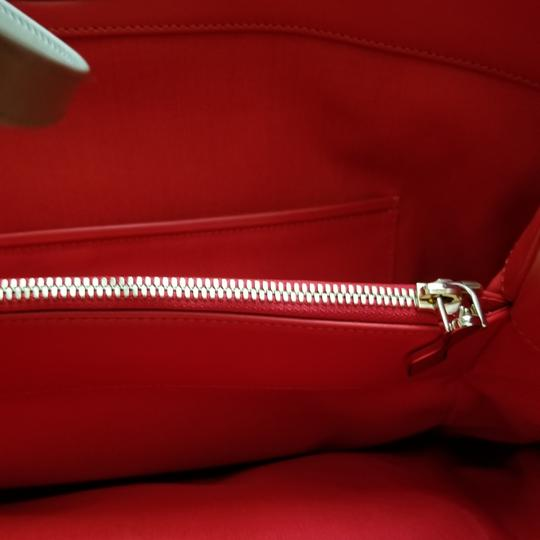 Christian Louboutin Tassle Vintage Tote in Black Leather, Red Interior Image 8