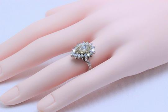 Fancy Brown Champagne Pear Shape Diamond 3.80 Tcw 14k White Engagement Ring Image 7