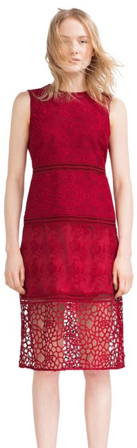 Preload https://img-static.tradesy.com/item/23998448/zara-red-new-without-tags-contrast-embroidered-midi-lace-crochet-sheath-mid-length-cocktail-dress-si-0-1-650-650.jpg