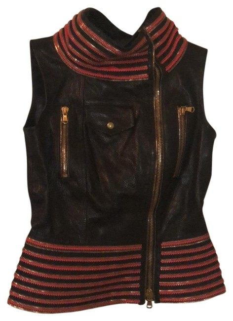 Item - Black Red Gold Unknown Vest Size 4 (S)