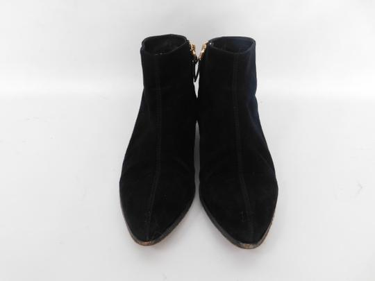 Giuseppe Zanotti Suede Pointed Toe Ankle black Boots Image 1