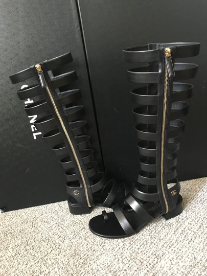 Chanel Black Sandals Image 4