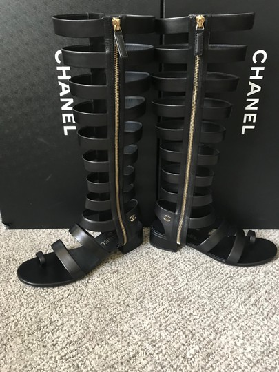 Chanel Black Sandals Image 6