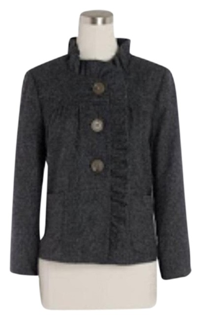 Item - Gray Fiona Ruffle In Charcoal Jacket Size 2 (XS)