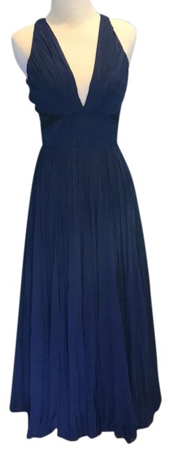 Preload https://img-static.tradesy.com/item/23998661/j-mendel-navy-blue-double-take-flowing-chiffon-gown-mid-length-formal-dress-size-4-s-0-1-650-650.jpg