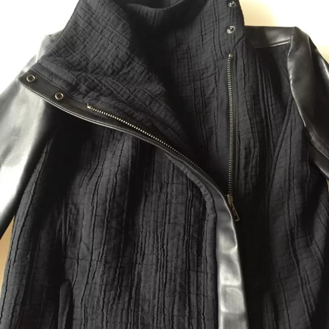 Helmut Lang Blizzard High Collar black Leather Jacket