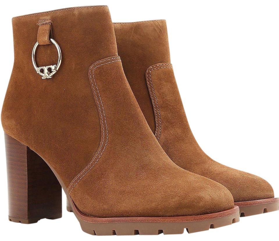 Tory Suede Burch Brown New Suede Tory Fall Ring Metal Boots/Booties 4c12cb