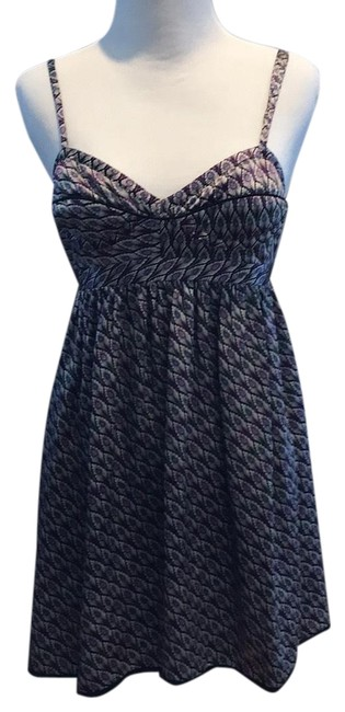 Item - Silver with Purple and Blue Tara Peacock Silk Dress Tunic Size 2 (XS)