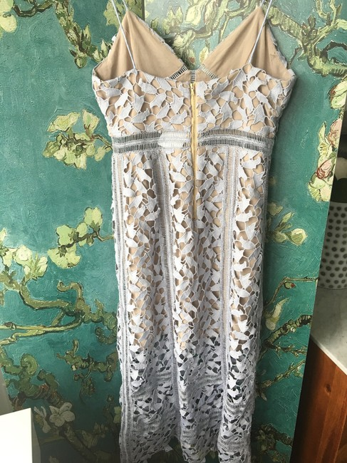 Few Moda New York Crochet Lace Midi Spaghetti Straps Dress