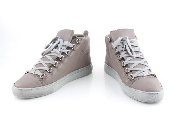 Item - Brown Taupe Lambskin Arena High Top Sneakers Shoes