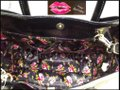 Betsey Johnson Contrast Print Gold Hardware Satchel/Cross Over Large Size Faux Leather Tote in Multi-Color Image 4