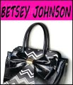 Betsey Johnson Contrast Print Gold Hardware Satchel/Cross Over Large Size Faux Leather Tote in Multi-Color Image 5