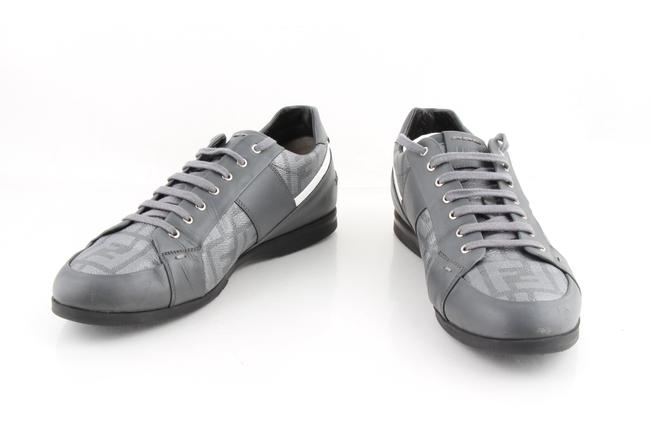 Item - Gray Leather Wimbledon Sneakers Shoes