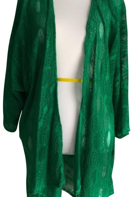 Item - Green Lace Lindsay Cover Up Cardigan Size 16 (XL, Plus 0x)