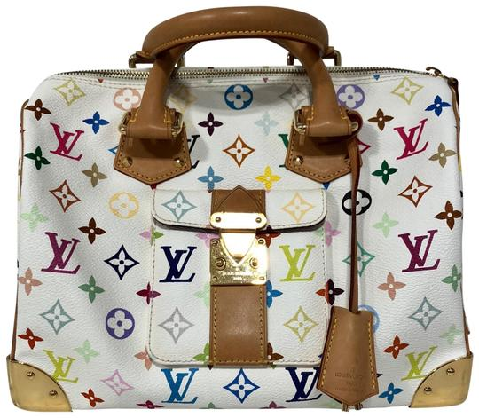 Preload https://img-static.tradesy.com/item/23999020/louis-vuitton-speedy-multicolor-white-leather-satchel-0-1-540-540.jpg