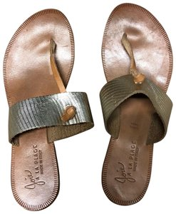 Joie Camel and champagne gold Sandals