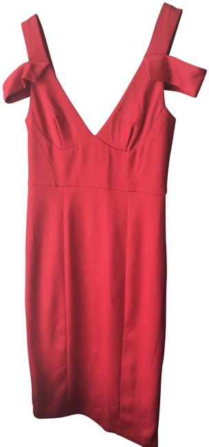 Item - Red Abs Off Shoulder Short Cocktail Dress Size 12 (L)