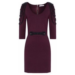 Balmain short dress Plum on Tradesy
