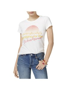 Junk Food Sleeves Chew Neck Graphic T-shirt T Shirt White