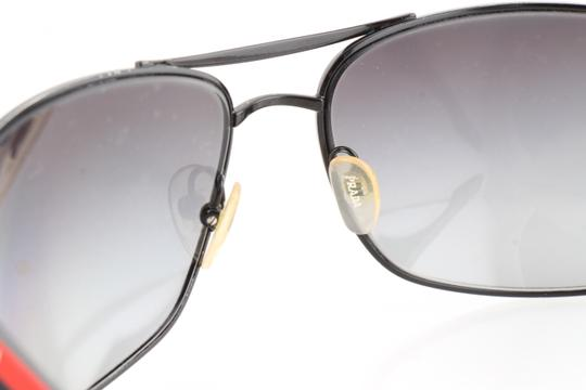 Prada Prada Black Linea Rossa SPS53N Polarized Wrap Sunglasses