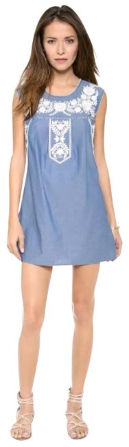 Preload https://img-static.tradesy.com/item/23999148/tory-burch-embroidered-calita-blue-floral-chambray-cover-up-short-casual-dress-size-6-s-0-1-650-650.jpg